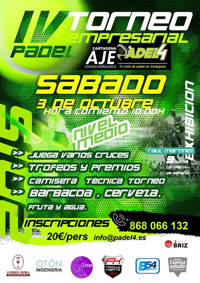 Exhibición Campeonato De Padel De AJE Cartagena